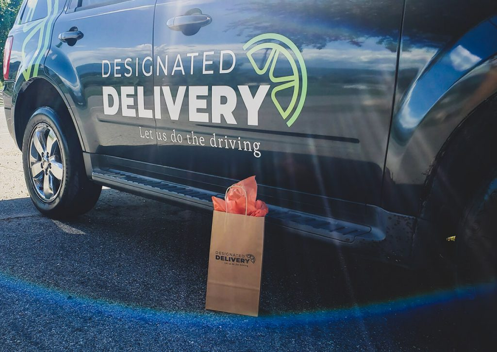 Designated Delivery vehicle for alcohol delivery